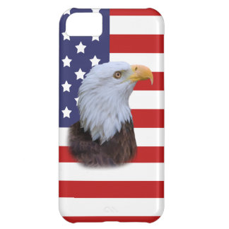 Patriotic  Eagle and USA Flag  Customizable iPhone 5C Cover