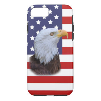 Patriotic  Eagle and USA Flag  Customizable iPhone 7 Case