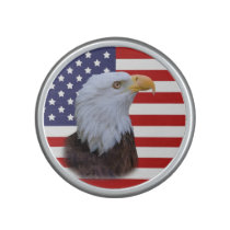 Patriotic  Eagle and USA Flag  Customizable Speaker