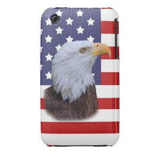 Patriotic Eagle and USA Flag iPhone 3 Case Mate