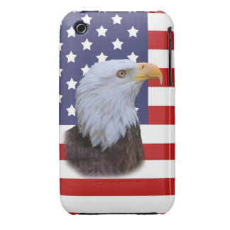 Patriotic  Eagle and USA Flag iPhone 3 Cover