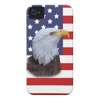 Patriotic  Eagle and USA Flag iPhone 4 Case