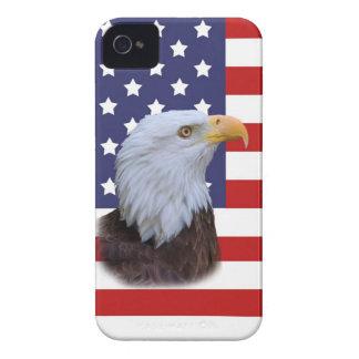 Patriotic Eagle and USA Flag iPhone 4 Case Mate