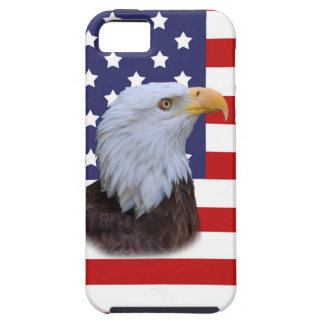 Patriotic  Eagle and USA Flag iPhone 5 Case