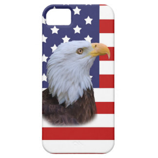 Patriotic  Eagle and USA Flag iPhone SE/5/5s Case