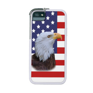 Patriotic  Eagle and USA Flag iPhone SE/5/5s Cover