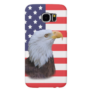 Patriotic  Eagle and USA Flag Samsung Galaxy S6 Cases