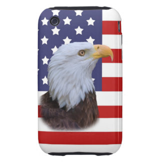 Patriotic Eagle and USA Flag Tough iPhone 3 Cases