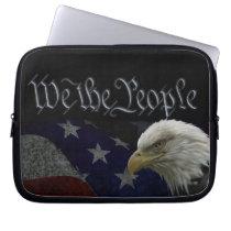 Patriotic Eagle & Flag Computer Sleeve