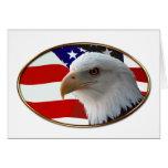Patriotic Eagle & Flag Greeting Card