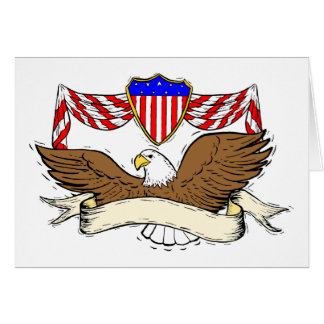 Patriotic Eagle Flag Greeting Card