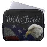 Patriotic Eagle & Flag Laptop Sleeve