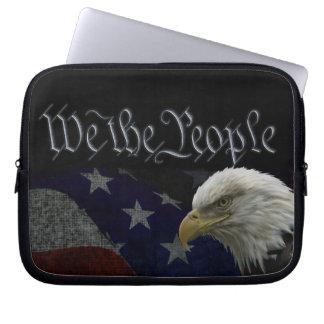 Patriotic Eagle & Flag Laptop Sleeves