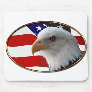 Patriotic Eagle & Flag Mouse Pad