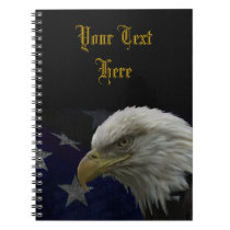 Patriotic Eagle & Flag Notebook