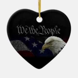 Patriotic Eagle Flag Ornaments