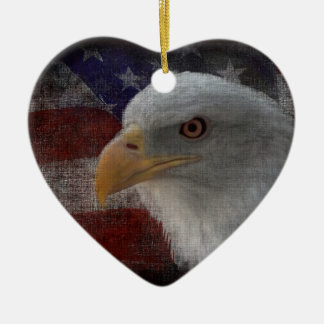 Patriotic Eagle Flag Ornament