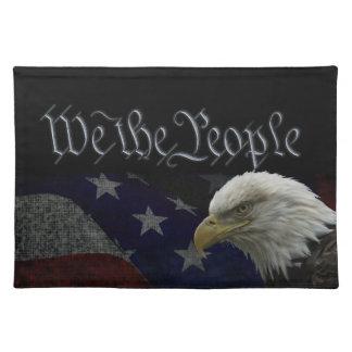 Patriotic Eagle & Flag Placemat