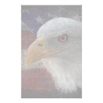 Patriotic Eagle & Flag Stationery