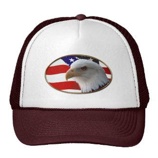 Patriotic Eagle & Flag Trucker Hat