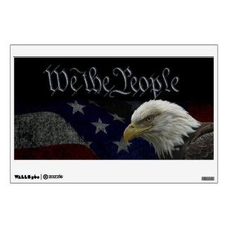 Patriotic Eagle & Flag Wall Sticker
