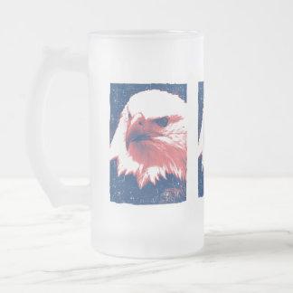 Patriotic Eagle - Grunge Art Coffee Mug