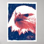 Patriotic Eagle - Grunge Art Poster