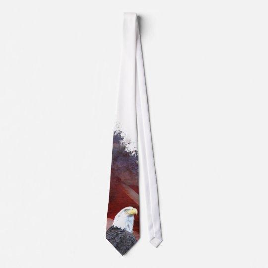 Patriotic Eagle Head Nexktie Neck Tie
