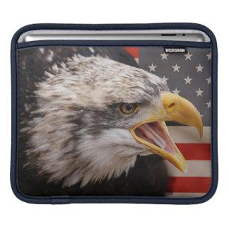 Patriotic Eagle Image iPad Sleeve