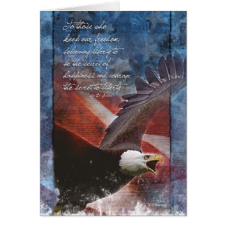 Patriotic Eagle in Flight Card