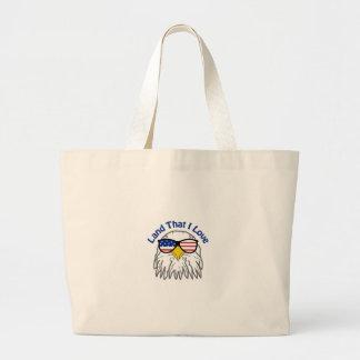 Patriotic Eagle Large Tote Bag