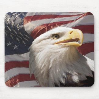 Patriotic Eagle Mouse Pad