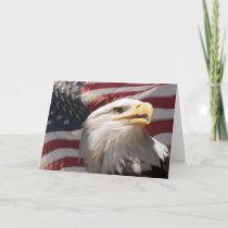 Patriotic Eagle Notecard
