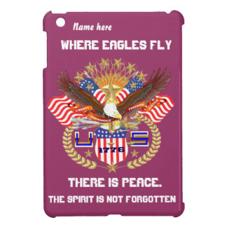 Patriotic Eagle Please View Artist Comments Cover For The iPad Mini