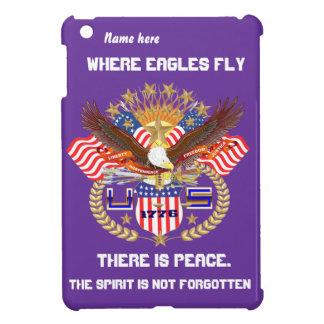 Patriotic Eagle Please View Artist Comments iPad Mini Covers