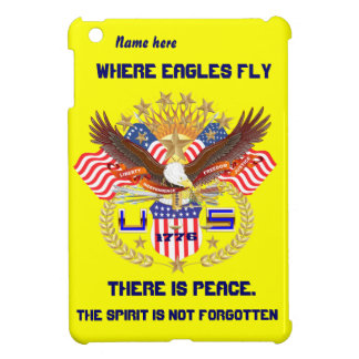 Patriotic Eagle Please View Artist Comments iPad Mini Covers