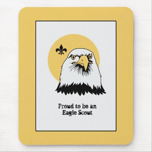 Patriotic Eagle Portrait Illustration - Mouse Pad