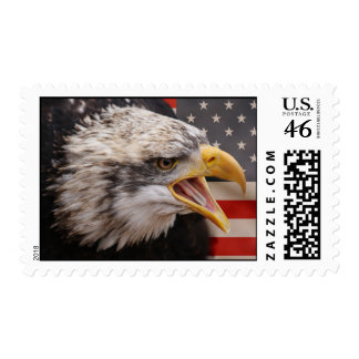 Patriotic Eagle Postage Stamp