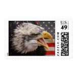 Patriotic Eagle Postage Stamp