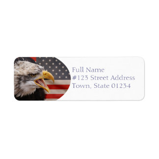 Patriotic Eagle Return Address Label