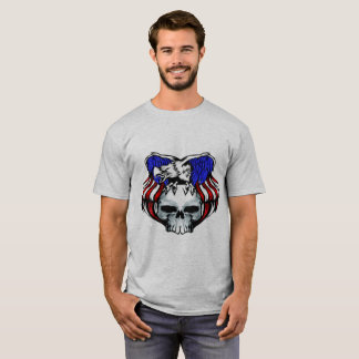 Patriotic Eagle Skull, Customize, T-Shirt