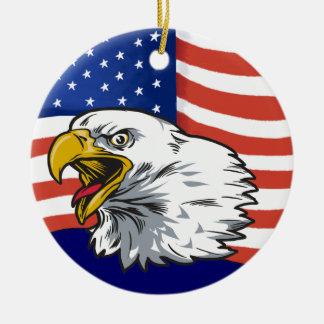Patriotic Eagle - SRF Christmas Ornament