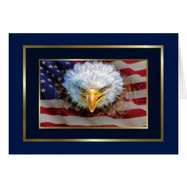 Patriotic Eagle  Stationery Note Card