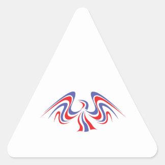 PATRIOTIC EAGLE TRIANGLE STICKER