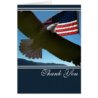Patriotic Eagle Thank You Card