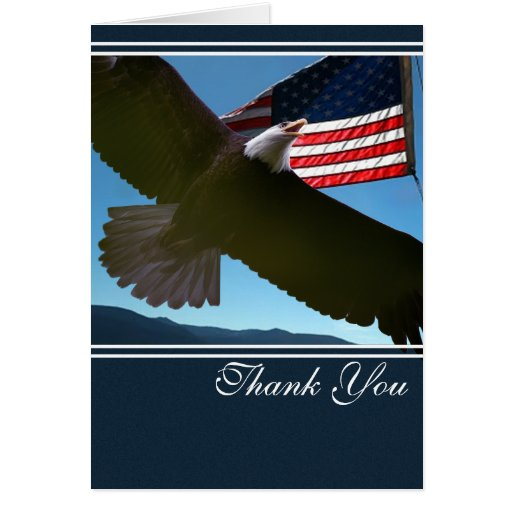 Patriotic Eagle Thank You Cards