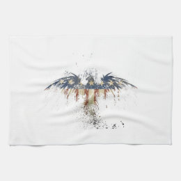 Patriotic eagle, US/USA, SAD flag Hand Towel