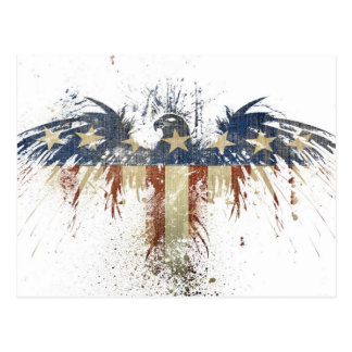 Patriotic eagle, US/USA, SAD flag Postcard