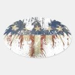 Patriotic eagle, US/USA, SAD flag Stickers