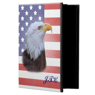 Patriotic  Eagle, USA Flag, Customizable Monogram Powis iPad Air 2 Case